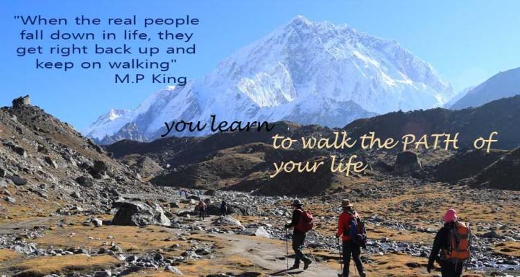 keep on walking in life
